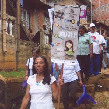 Marcha - día de la No volencia contra la Mujer Año 2008